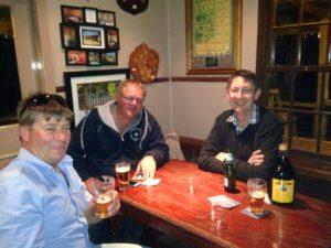 LtoR tony dick hugh neal brian eccles relaxing in an aussie pub